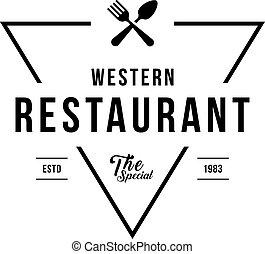 Restaurant Label Symbol in Vintage style