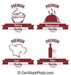 restaurant labels