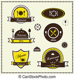 Restaurant labels set