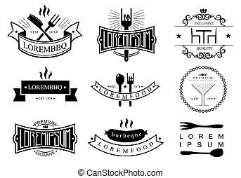Restaurant logo templates - Templates of logos and icons of...