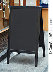 Restaurant menu blank board