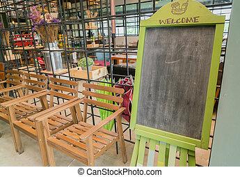 Restaurant menu blank board .