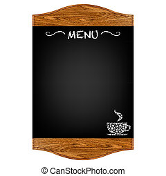 Restaurant Menu Board With Gradient Mesh, Isolated On Red ...