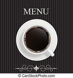 restaurant, menu, café, café, barre