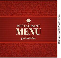 Restaurant Menu Card With Gradient Mesh, Vector Illustration