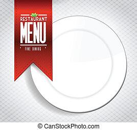Restaurant menu concept illustration