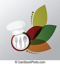 restaurant menu concept illustration design