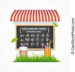 Restaurant Menu Concept. Vector