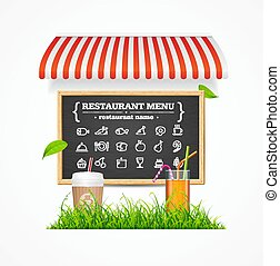 Restaurant Menu Concept. Vector