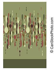 Restaurant menu cutlery pattern - Cutlery icons seamless...