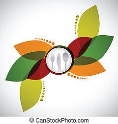 Restaurant menu design illustration design over a white...