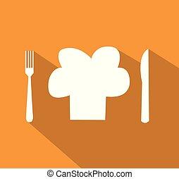 Restaurant menu design in flat style