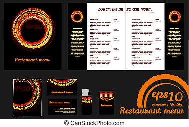 Restaurant menu design template an mockup