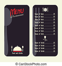 Restaurant menu design template
