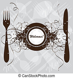Restaurant menu design, vector template