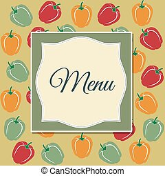 Restaurant menu design with sweet peppers