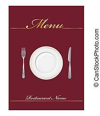 Restaurant menu - Elegant menu cover for restaurant