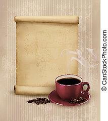 restaurant., menu, koffie, illustratie, vector, ontwerp,...