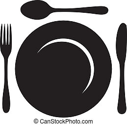 Restaurant Menu Logo - This image is a vector file...