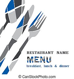 restaurant menu on a white background