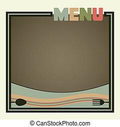 restaurant menu, ouderwetse , retro