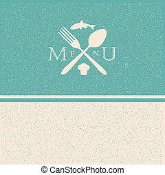 restaurant menu retro poster