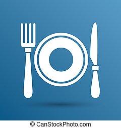 Restaurant menu symbol such logo food cafe