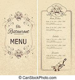 Restaurant menu template ?