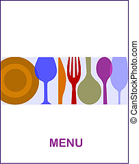 restaurant menu with a white background -1