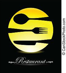 restaurant menu with curtely