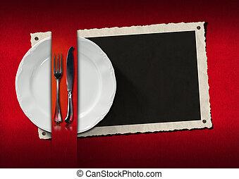 Restaurant Menu with Photo Frame