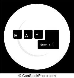 restaurant, moderne, icône