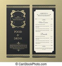 Restaurant or cafe menu design template