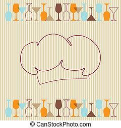 Restaurant or wine bar menu design. Seamless vector...