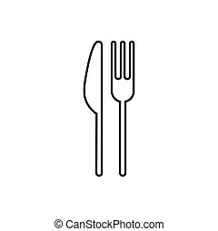 Restaurant outline icon. Symbol, logo illustration for mobile concept and web design.