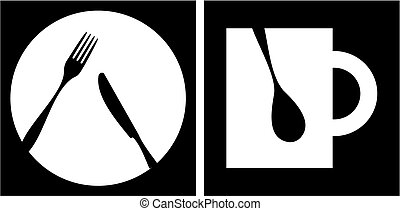restaurant, pictogram