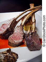 Restaurant Rack of Lamb  Dinner Plate