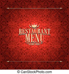 Restaurant red Menu design ,vintage card