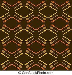 Restaurant seamless pattern background