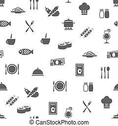 restaurant seamless pattern