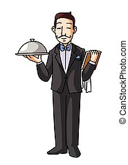 restaurant, serveur