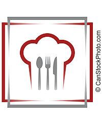restaurant sign in frame