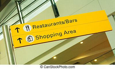 restaurant, signage