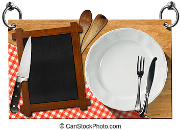 Restaurant Signboard with clipping path - Wooden signboard...