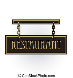 restaurant, signe