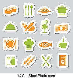 restaurant stickers