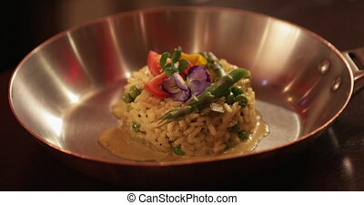 Restaurant Style Risotto - Close-up of a restaurant style...