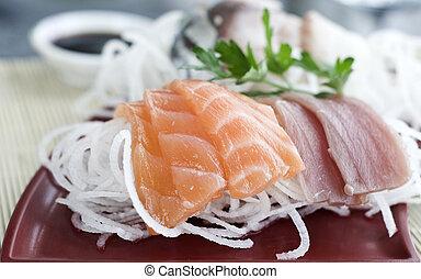 Restaurant sushi dish
