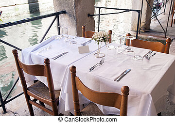 Restaurant Table in Venice
