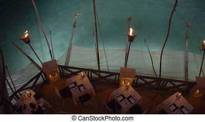Restaurant table sets by the water - Fancy restaurant table...